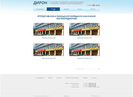 Сайт компании ГП НО «ДиРОН»